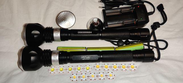 На 3 аккума подводный фонарь Япард  для подводной охоты, дайвинга
