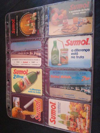 Conjunto Calendários Sumol anos 80