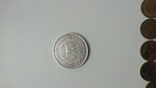 Монета 5 марок 1935г.Серебро.