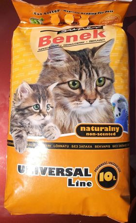 Żwirek dla kota Benek Naturalny Uniwersal Line 10 L