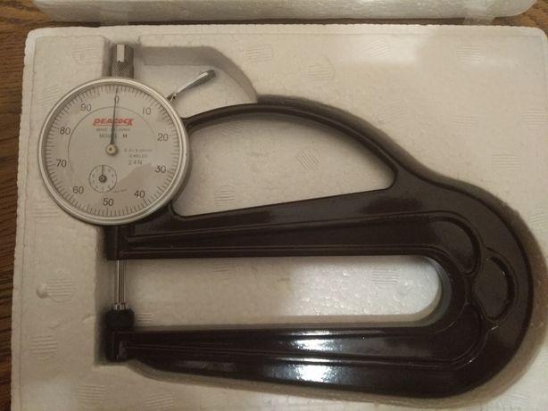 Микрометр толщиномер индикаторный Peacock model H 2.4 N 0.01 Япония