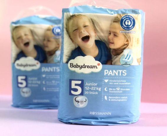 АКЦИЯ!!! Подгузники трусики Babydream pants 5*20 шт.