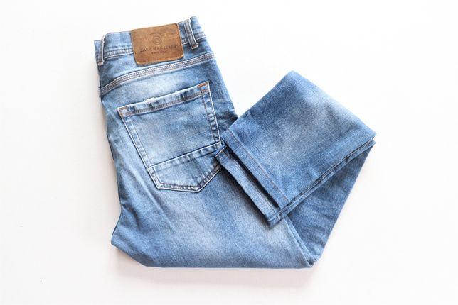 Męskie spodnie jeansowe ZARA MAN W30 L30 EUR 42 j.nowe modne okazja