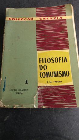 """Livro """"Filosofia do Comunismo""""  de J.Mc Fadden.  De 1961."""
