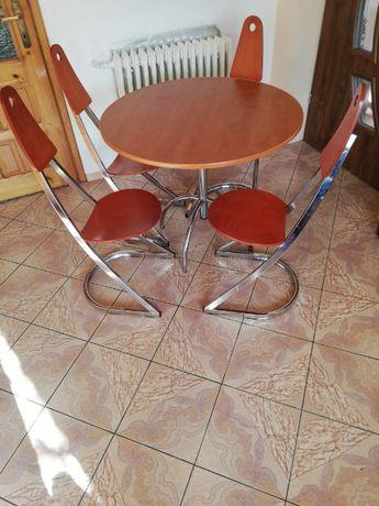 Stół + 4xkrzesła fajny styl.