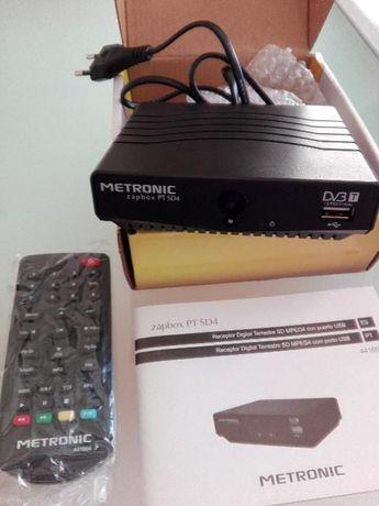 Mini receptor Metronic zapbox TDT SD MPEG4 novo!