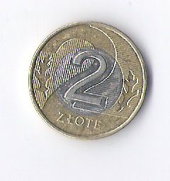Продам недорого монету Польши, номиналом 2 злотых. 2016 года.