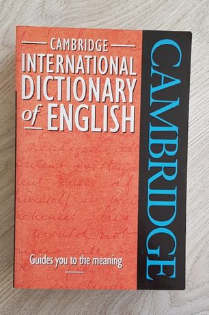 duży słownik angielski Cambridge International Dictionary of English