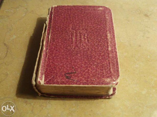 Livro de orações Católicas, em Francês, de 1931