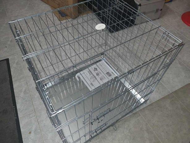 Jaula Transportadora para cães - Porta Dupla 63x55x61