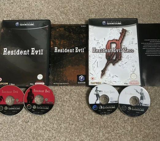 Gamecube Nintendo gry Resident Evil i Resident Evil Zero