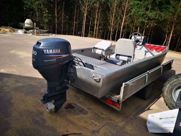 aluminiowa łódź motorowa płaskodenna
