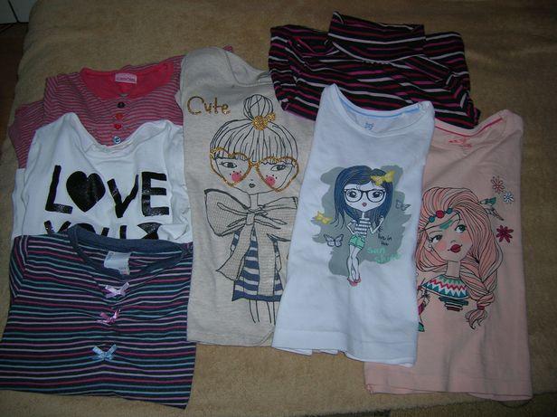 bluzeczki na długi rękaw dziewczynka rozm. 98/104, 116