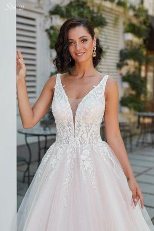 Suknia ślubna nowa szycie na miarę kolekcja 2021