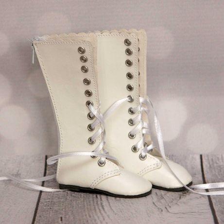 Buty kozaki białe dla lalki BFC INK Nancy Famosa bjd 1/4 bjd 1/3