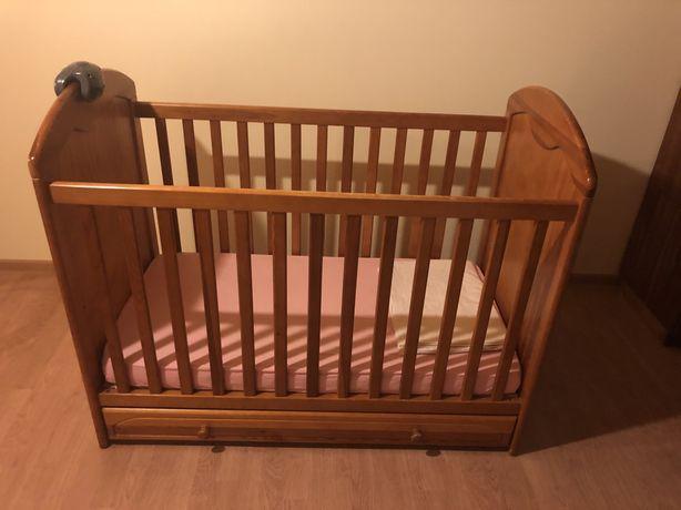 Łóżeczko dzieciece Gluck Drewniane 130x60cm