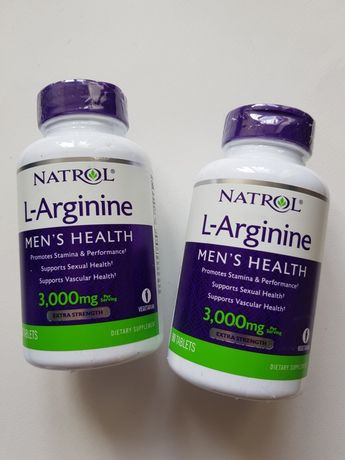 L- Arginine 3000mg , 90tab , Здоровье сосудов.