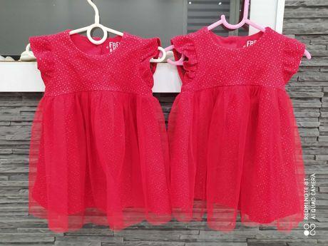 Sukienki dla bliźniaczek r. 80 cm Swięta