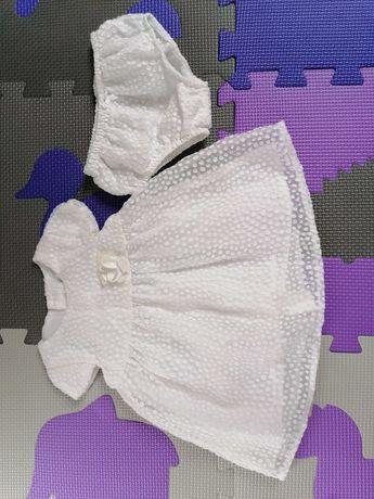 Sukienka biała Mayoral 56/62 z majteczkami