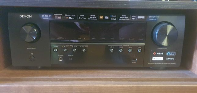 Amplituner Denon AVR-S650H, 5 głośników Wilson (w tym 2 kolumny), NOWY