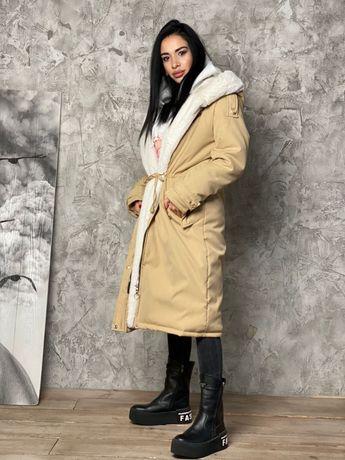 Парка на меху, зимняя куртка