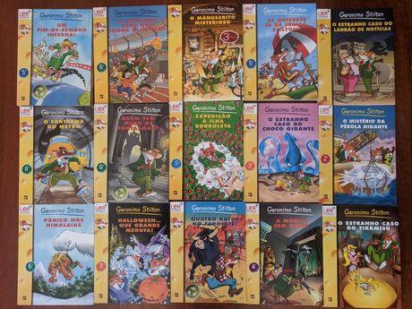 """15 livros da coleção """"Geronimo Stilton"""""""