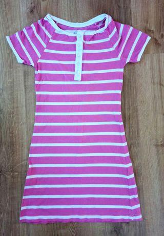 Sukienka roz.134-140 cm / 9-10 lat różowa w paski
