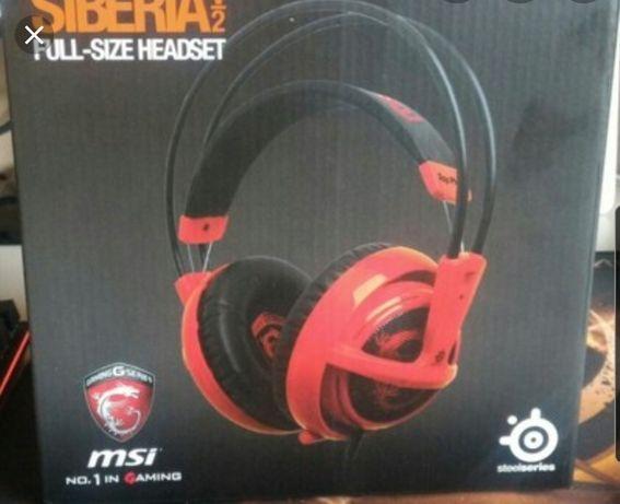 Słuchawki gamingowe headset Steelseries Siberia v2 MSI Edition
