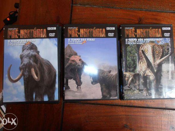 6 Dvd's colecção pré-história