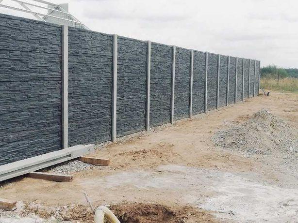 Ogrodzenie betonowe, NOWOCZESNE wzory -  MONTAŻ SPRZEDAŻ