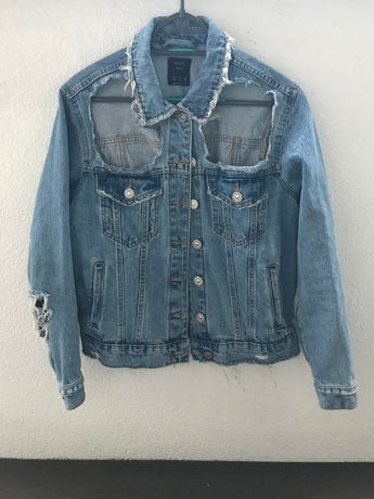 jeansowa kurtka bershka