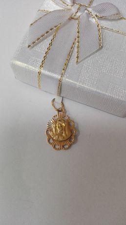 Złoty wisiorek, złoto 585 medalik