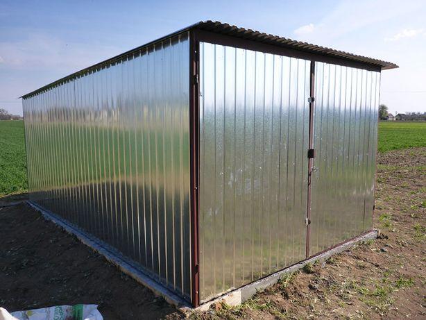 Garaż blaszany Blaszak na budowę Schowek budowlany Garaże PRODUCENT
