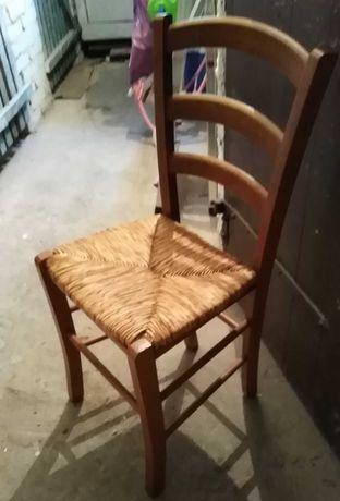 krzesła ratanowe 2 szt.