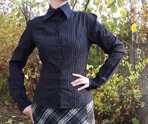 Koszula czarna gothic 36 S goth elegancka