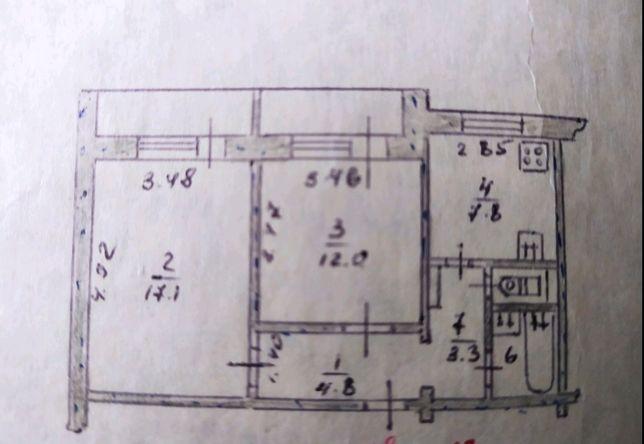 Сдам 2-х комнатную квартиру, левый берег, 10мкр