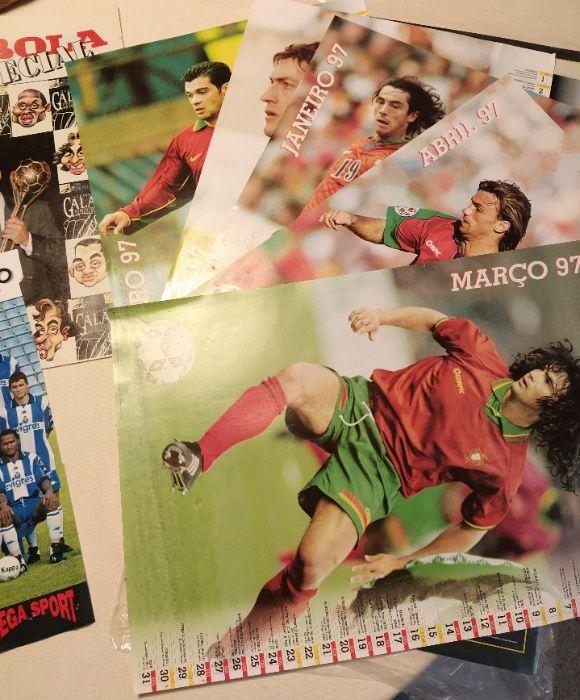 Calendário e posters futebol