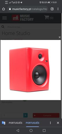 Monitor de áudio profissional 8 polegadas