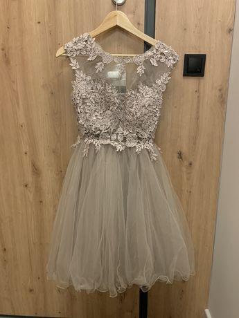 Piekna sukienka wesele komunia przyjecie