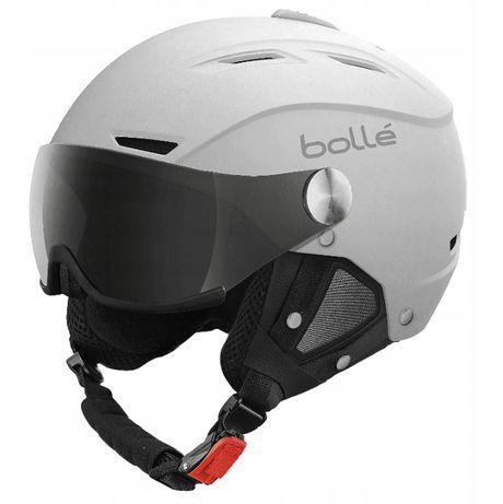 Nowy kask narciarski Bolle Backline Visor z wizjerem 54-56cm przyłbicą