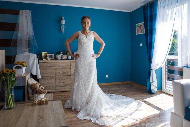 Wyjątkowa, koronkowa suknia ślub kościelny, cywilny, sesja!