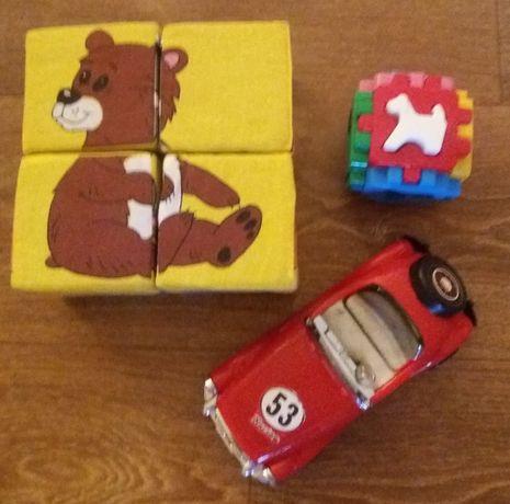 Большие мягкие кубики, инерционная машина и кубик-пазл