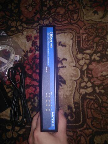 Продам сервер moxa uport 1450l 4 com(rs-232/422/485)
