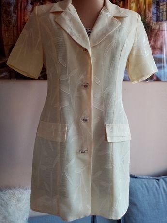 Moda Italiana cienka zwiewna marynarka krótki rękaw r. 36