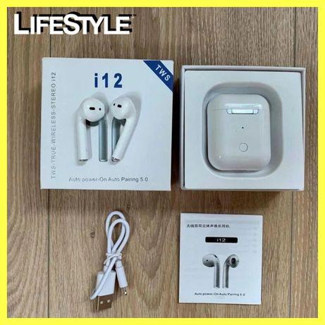 Беспроводные наушники Airpods i12 i9 i8 i7 Bluetooth навушники NEW!