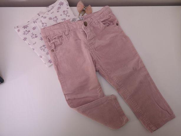 Spodnie rurki ZARA rozmiar 86