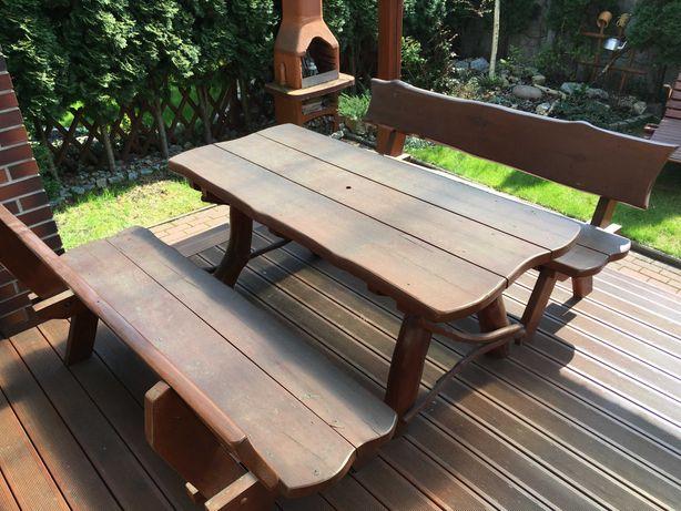 Sprzedam zestaw mebli ogrodowych, dwie ławy i stół