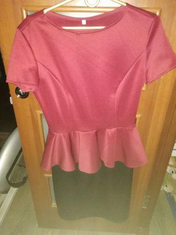 Продам новое платье с баской