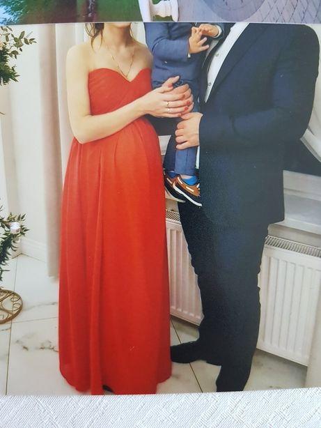 Sukienka ciążowa czerwona