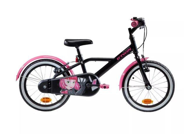 Rower dziecięcy dla dziewczynki Btwin Spy Hero Girl 500, koła 16